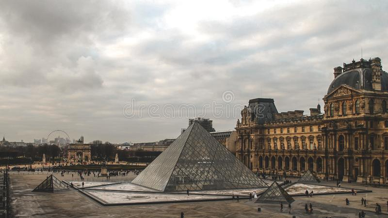 The Louvre museum stock photo