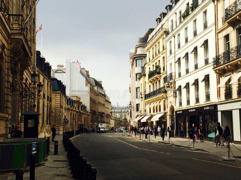 Paris an der Dämmerung stockfotografie