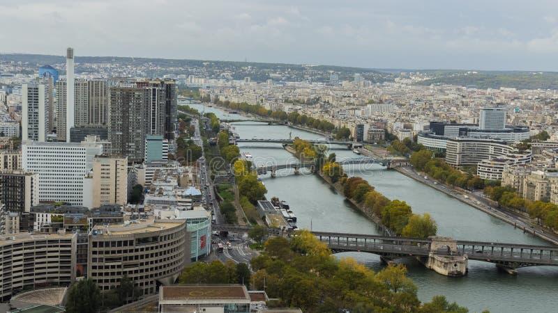 Paris from  the sky. Paris from  the. Vosta, sigth, rio, river, sena, seine, city, ciudad royalty free stock photography