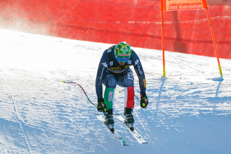 Paris Dominik in Audi FIS Alpine Ski World Cup - Men's Downhill. Val Gardena, Italy 19 December 2015. Paris Dominik (Ita) competing in the Audi Fis Alpine Skiing stock photo