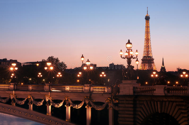 Download Paris at dusk editorial photo. Image of architecture - 21848231