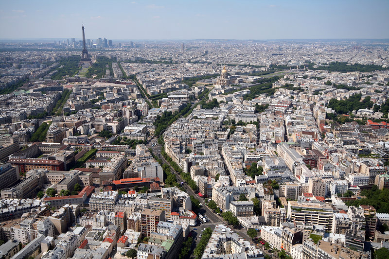 Paris e torre Eiffel imagens de stock royalty free