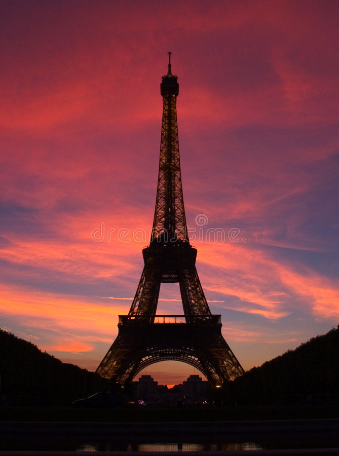 Download Paris - Eiffel Tower stock image. Image of holiday, silhouette - 110743