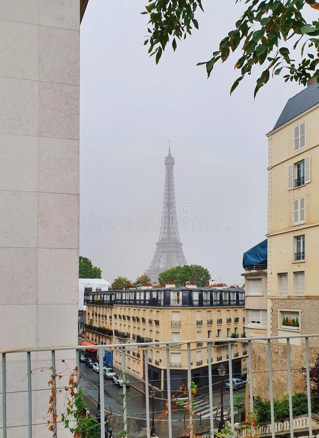 Paris and the Eiffel tower, Paris, France royalty free stock image