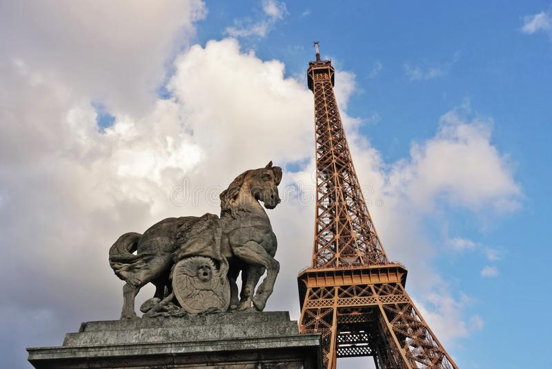 Paris The `Eiffel Tower` stock photo