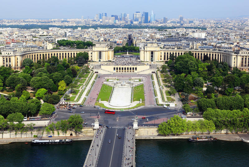 Paris from Eiffel Tower royalty free stock photography
