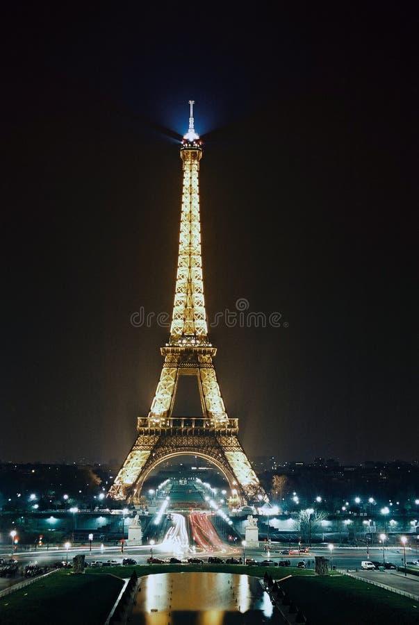 Paris, Eiffel Tower at night royalty free stock photos