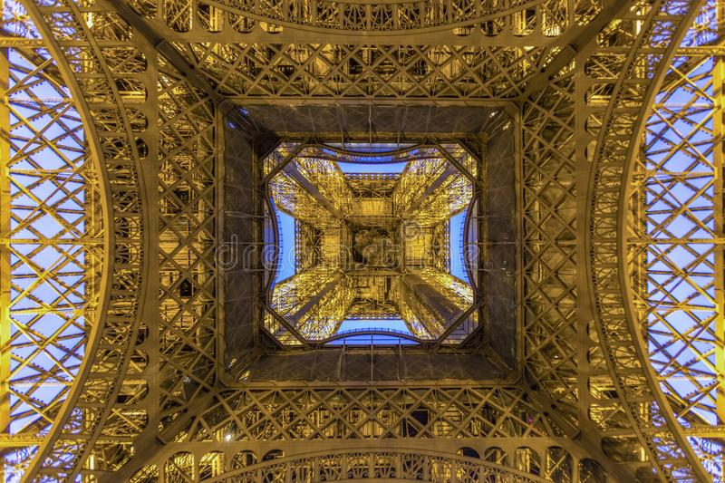 Paris Eiffel Tower at the early morning royalty free stock photography