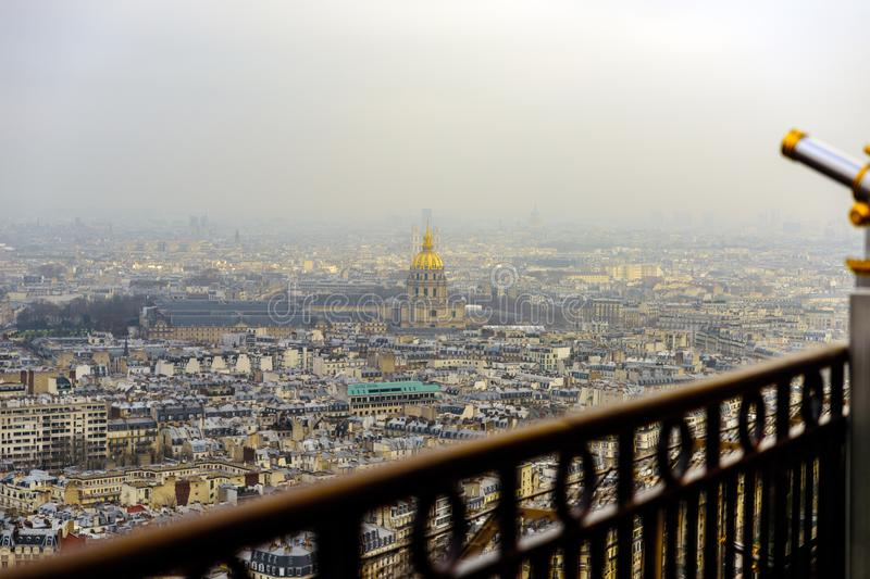 Paris from Eiffel tower stock photography