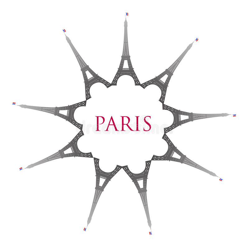 Paris With Eiffel Towers Stock Image