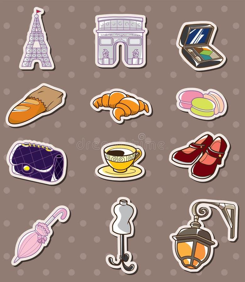 Download Paris element stickers stock vector. Image of dessert - 24538267
