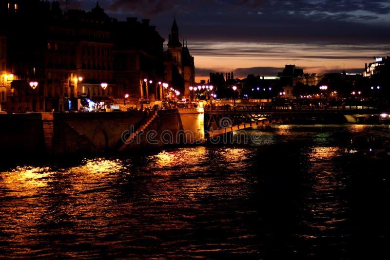 Paris em a noite imagens de stock royalty free