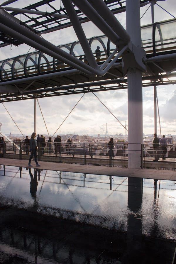 Paris em Pompidou foto de stock royalty free