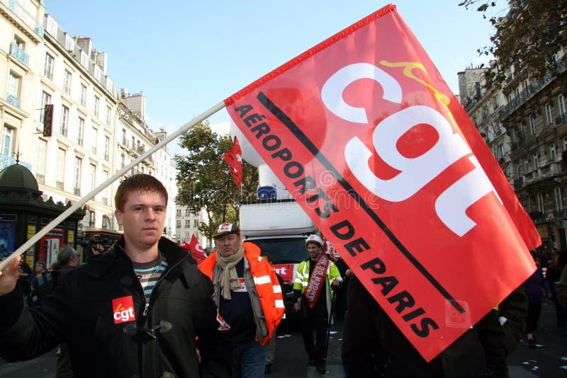 paris emerytura strajk obrazy royalty free