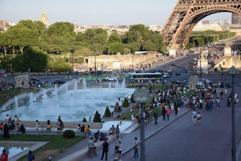 Paris, excursion Eiffel photo stock