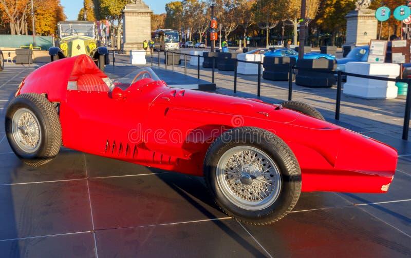 Paris. Exhibition of retro cars. stock images