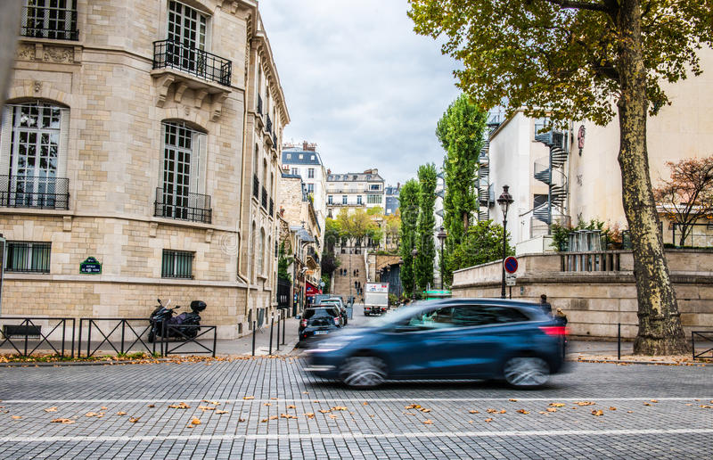 Paris in fall stock photography