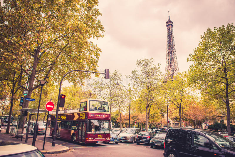 Paris in fall royalty free stock images