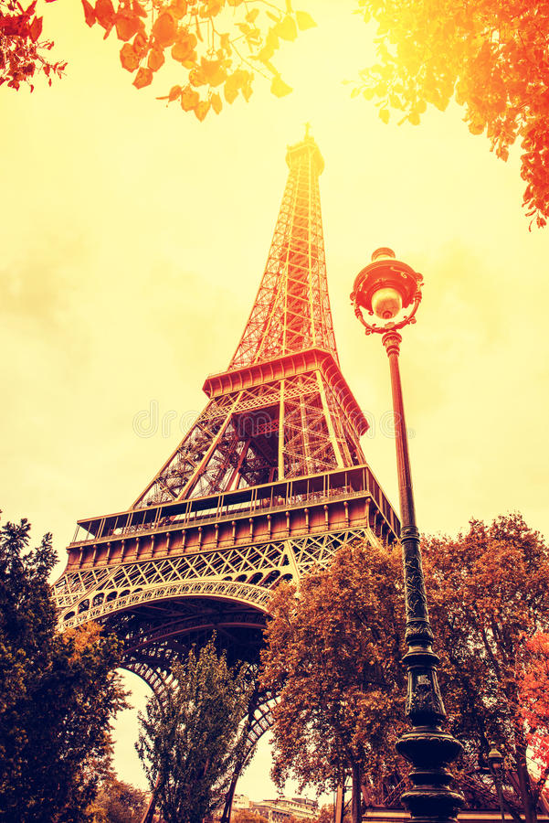 Paris fall season royalty free stock image