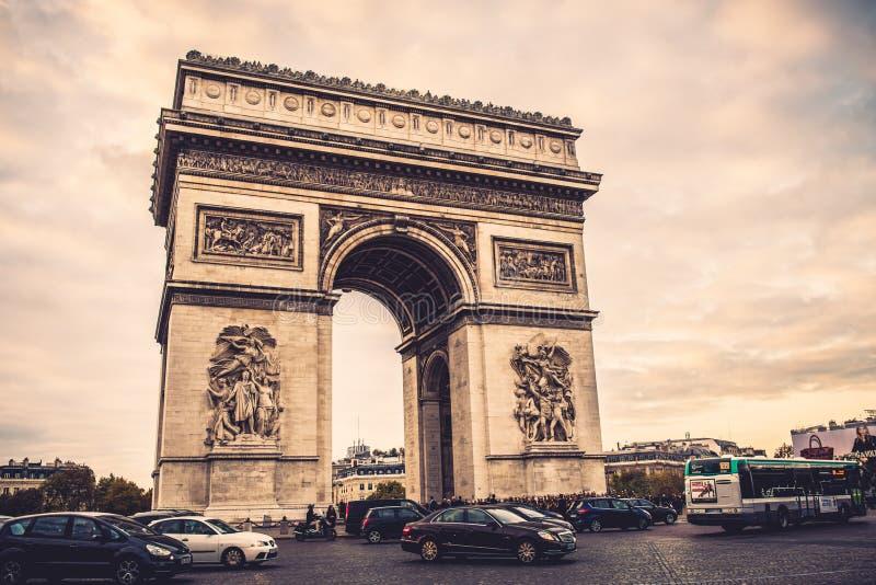 Paris in fall stock image