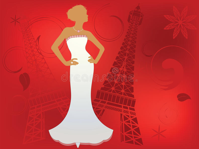 Download Paris Fashion stock vector. Image of fashionable, bridal - 9892728