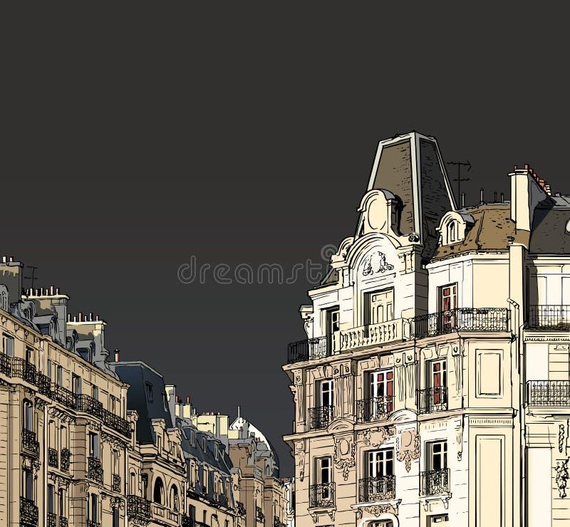Paris - Fassaden vektor abbildung