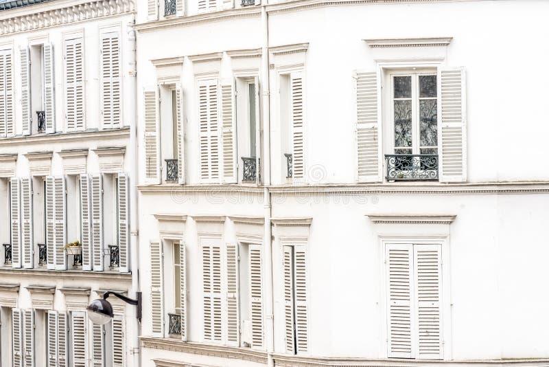 Paris fastighet arkivbild