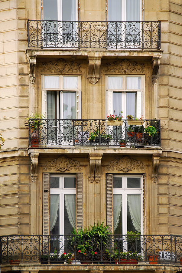 Paris-Fenster stockfotos