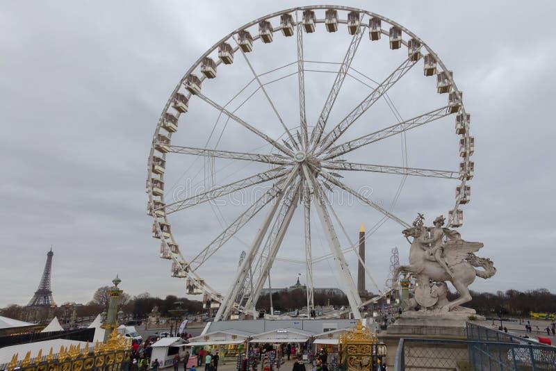 paris Ferris koło zdjęcia royalty free