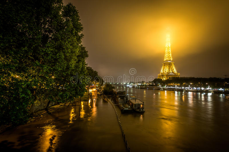 Paris Flood royalty free stock image