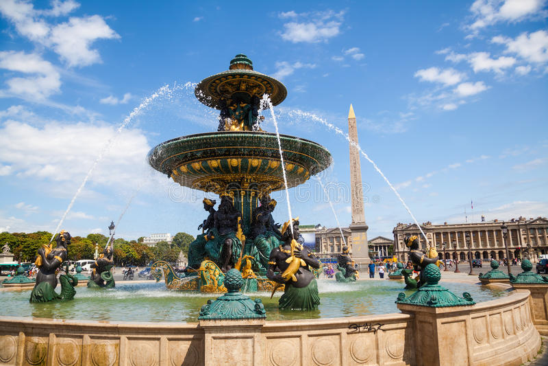 Paris, fontanna obraz stock