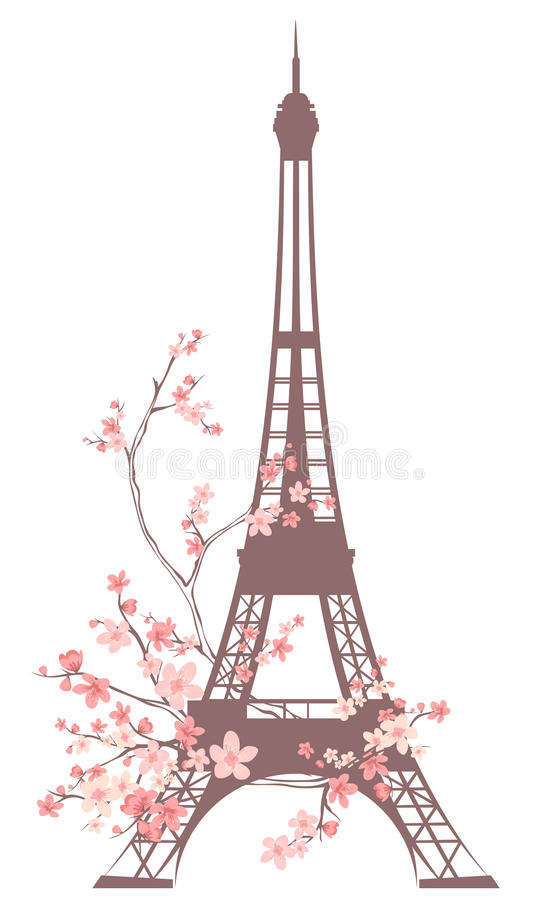 Paris-Frühling lizenzfreie abbildung