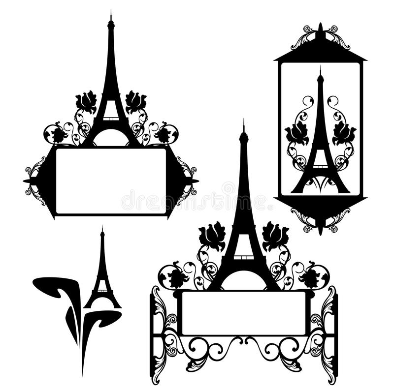 Paris frame design stock vector. Illustration of design - 54624962