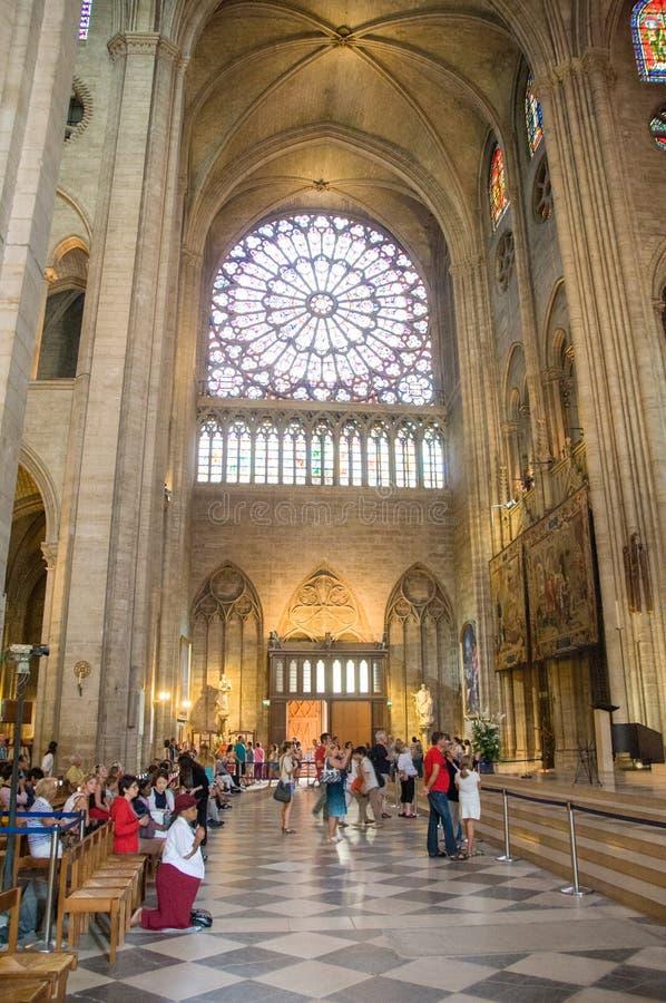 PARIS, FRANÇA - agosto 13,2013 - a catedral de Notre Dame de Paris foto de stock