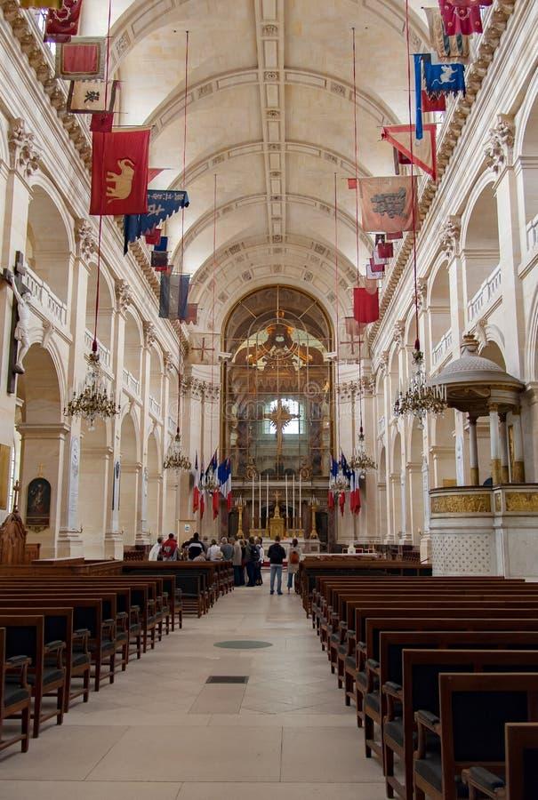 PARIS, FRANÇA, o 24 de abril de 2016 interior da igreja de DES Invalides do hotel foto de stock royalty free