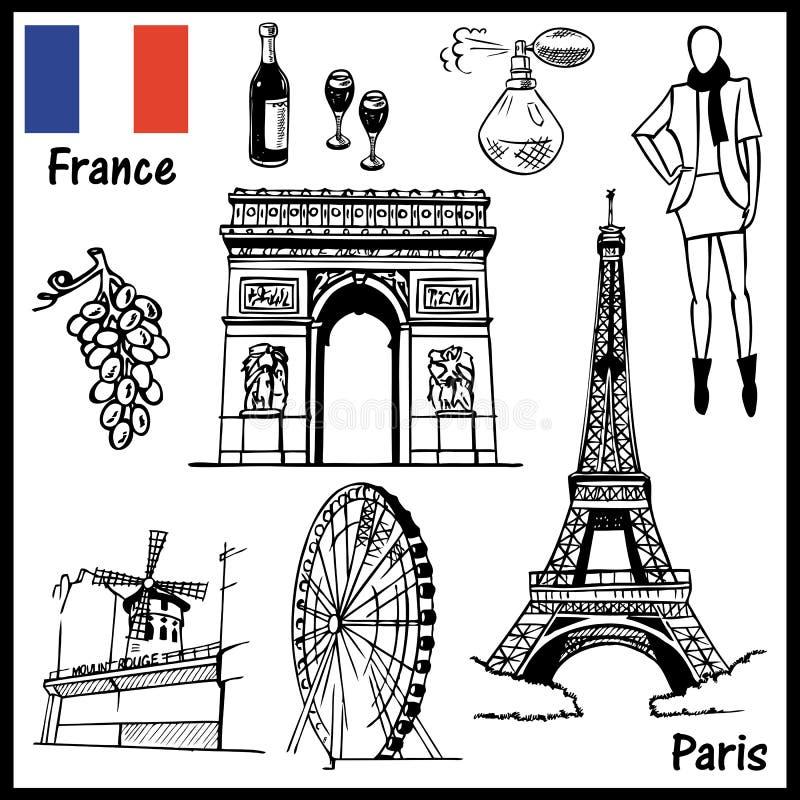 Paris france ilustracji