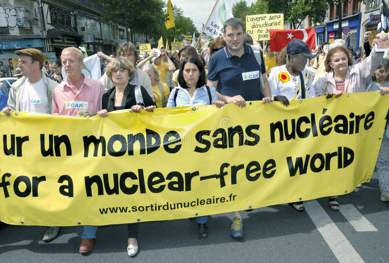 Download Paris, FRANCE - Anti-Nuclear Power Demonstration Editorial Stock Image - Image: 5750564
