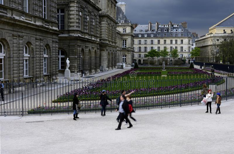 Garden of Luxembourg In Paris royalty free stock photography