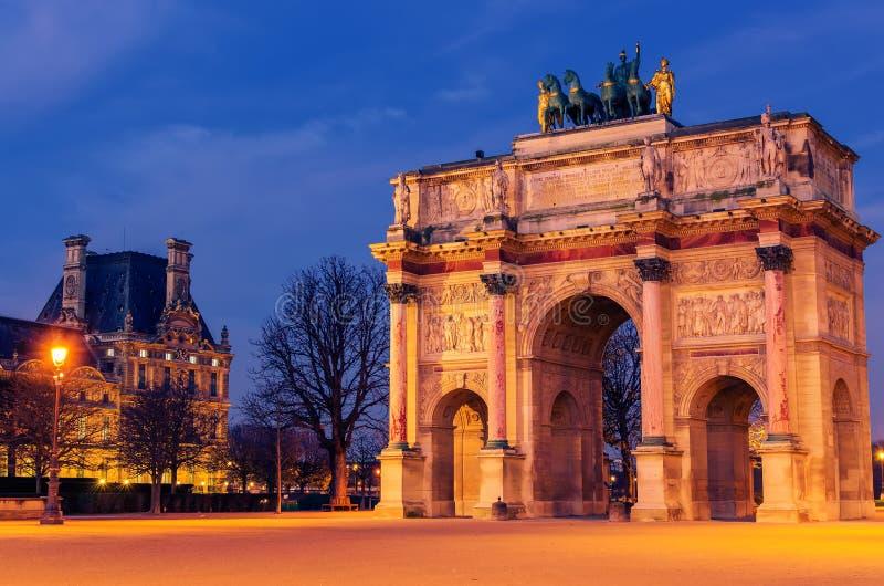 Paris, France : Arc de Triomphe du Carrousel photographie stock libre de droits