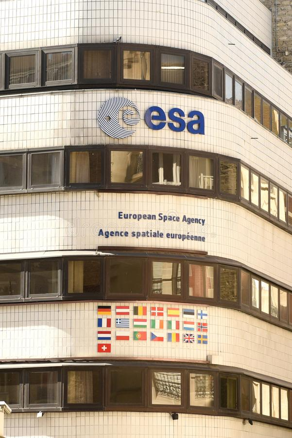 Paris, France - August 30, 2019: European Space Agency ESA Headquarters in Paris, France.  stock photography