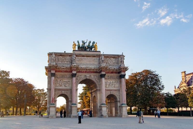 PARIS, FRANCE 22 AVRIL Arc de Triomphe du Carrousel images libres de droits