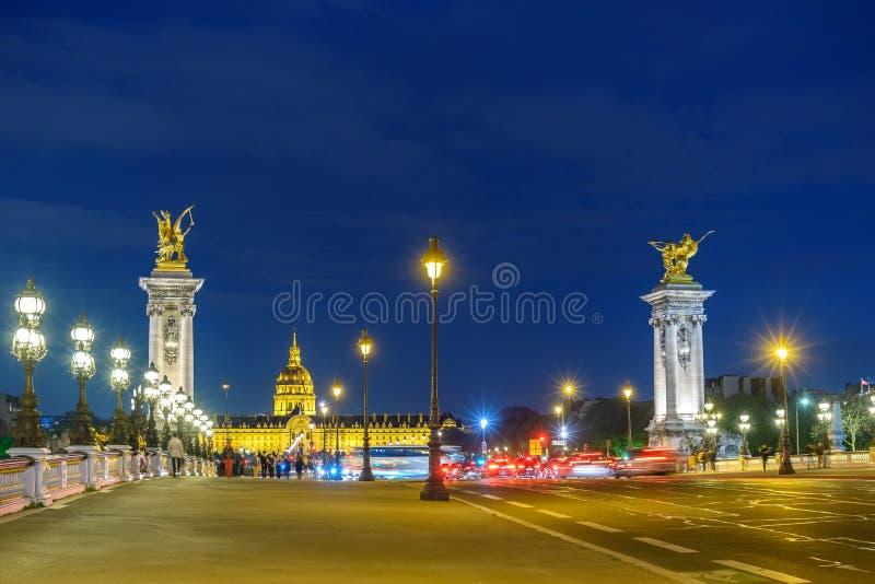 Paris France Pont Alexandre III bridge royalty free stock image