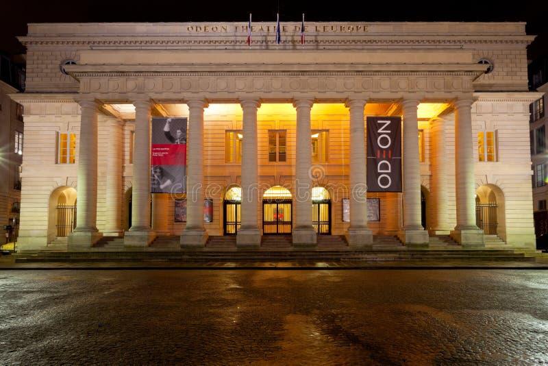 Odeon-Teatro de l'Europe em Paris imagem de stock