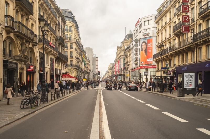Paris streetlife royalty free stock image