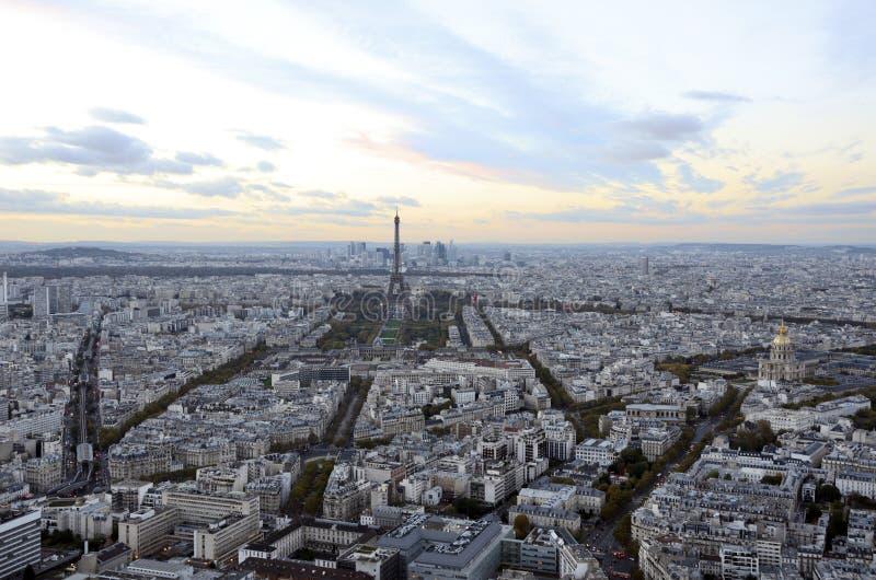 paris france eiffel torn panorama- sikt för stad arkivbild
