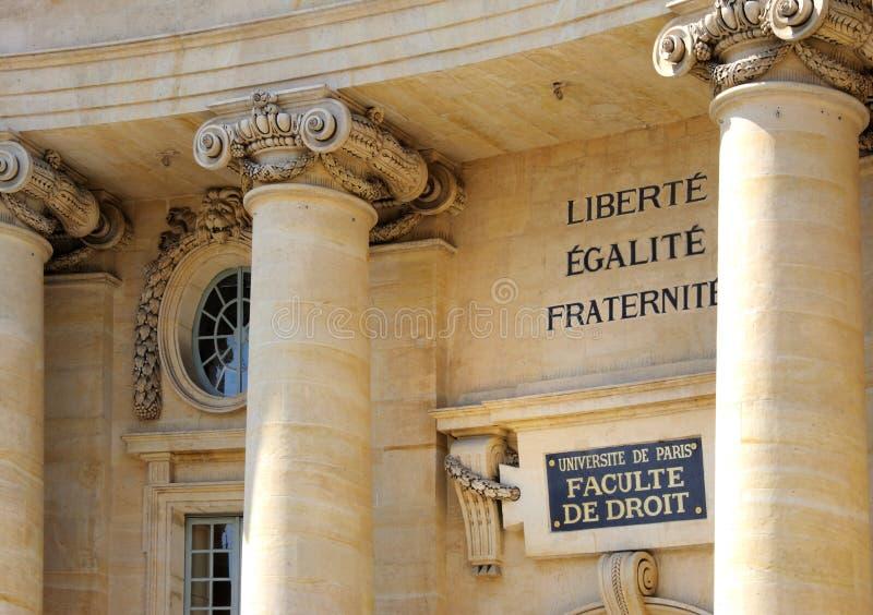 Paris (France) a escola de direito de Assas fotos de stock royalty free
