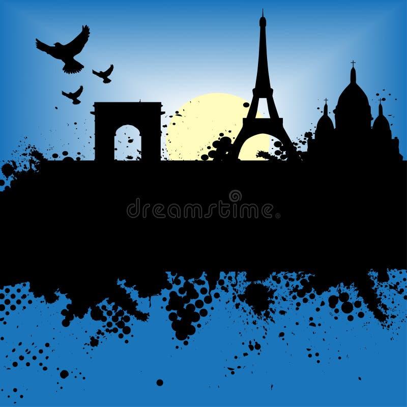 Download Paris France Grunge City At Ni Stock Vector - Illustration: 4960225