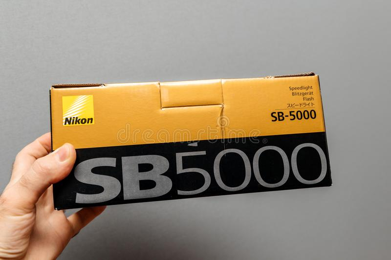 Nikon SB-5000 Speedlight featuring Radio Control Advanced Wirele royalty free stock photos