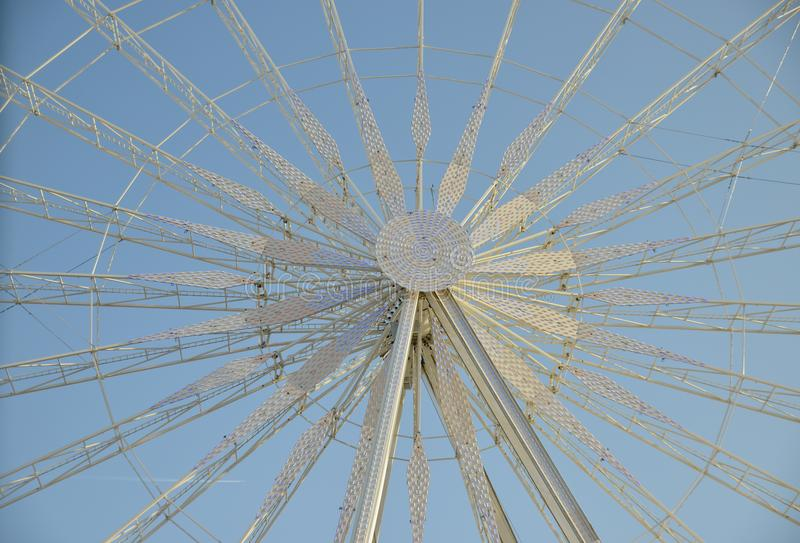 Close up of the Roue de Paris stock photography