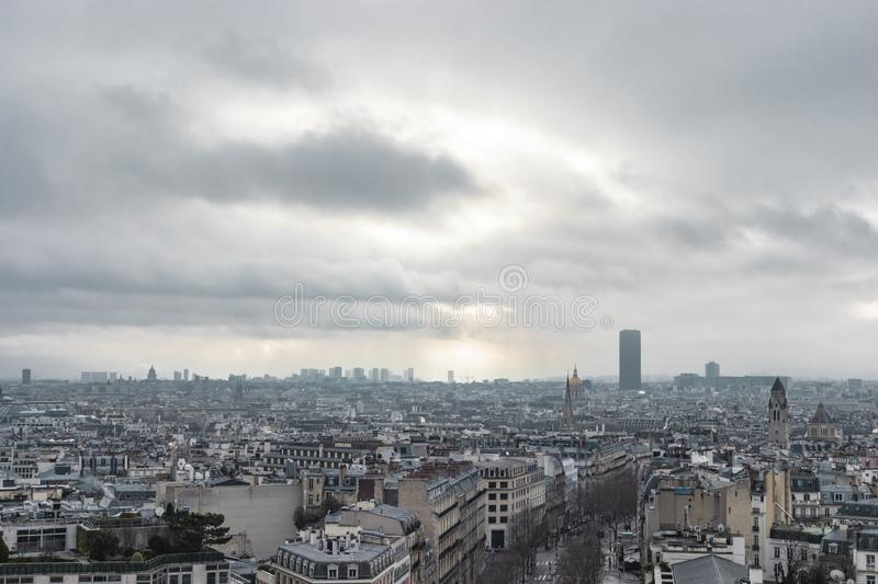 Up High City Landscape Of Paris stock image